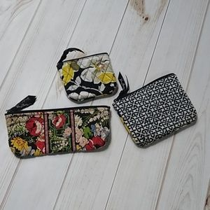 Small Vera Bradley zipper bags
